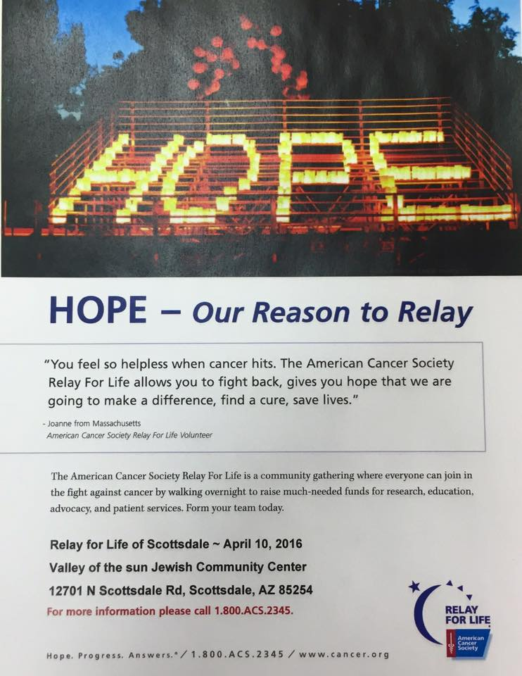 Relay for life flyer April 10 2016