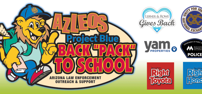 "AZLEOS Project Blue Back ""Pack"" to School July 2016"
