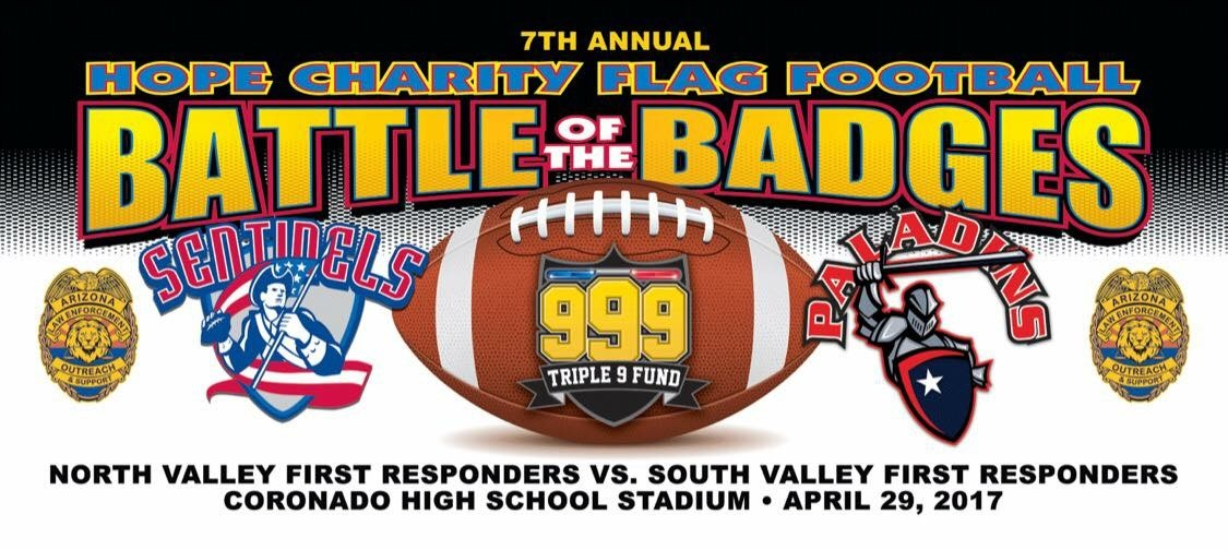 April 29th 6pm Battle Of The Badges Flag Football Game Coronado Hs In Scottsdale